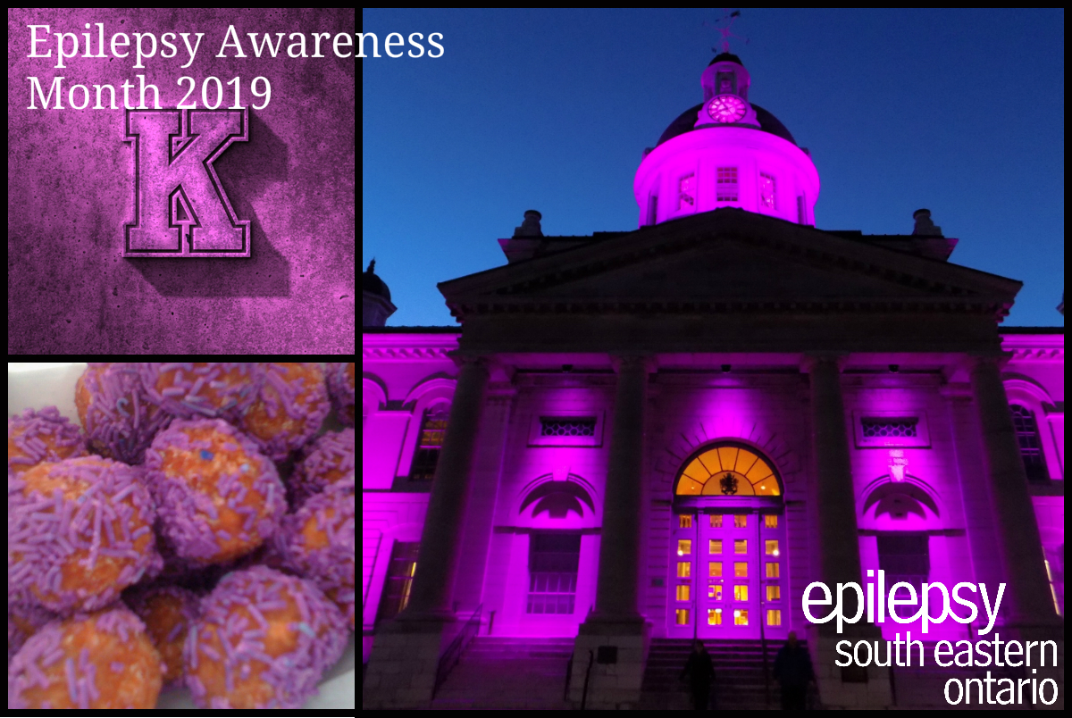 Collage of events for epilepsy awareness month.