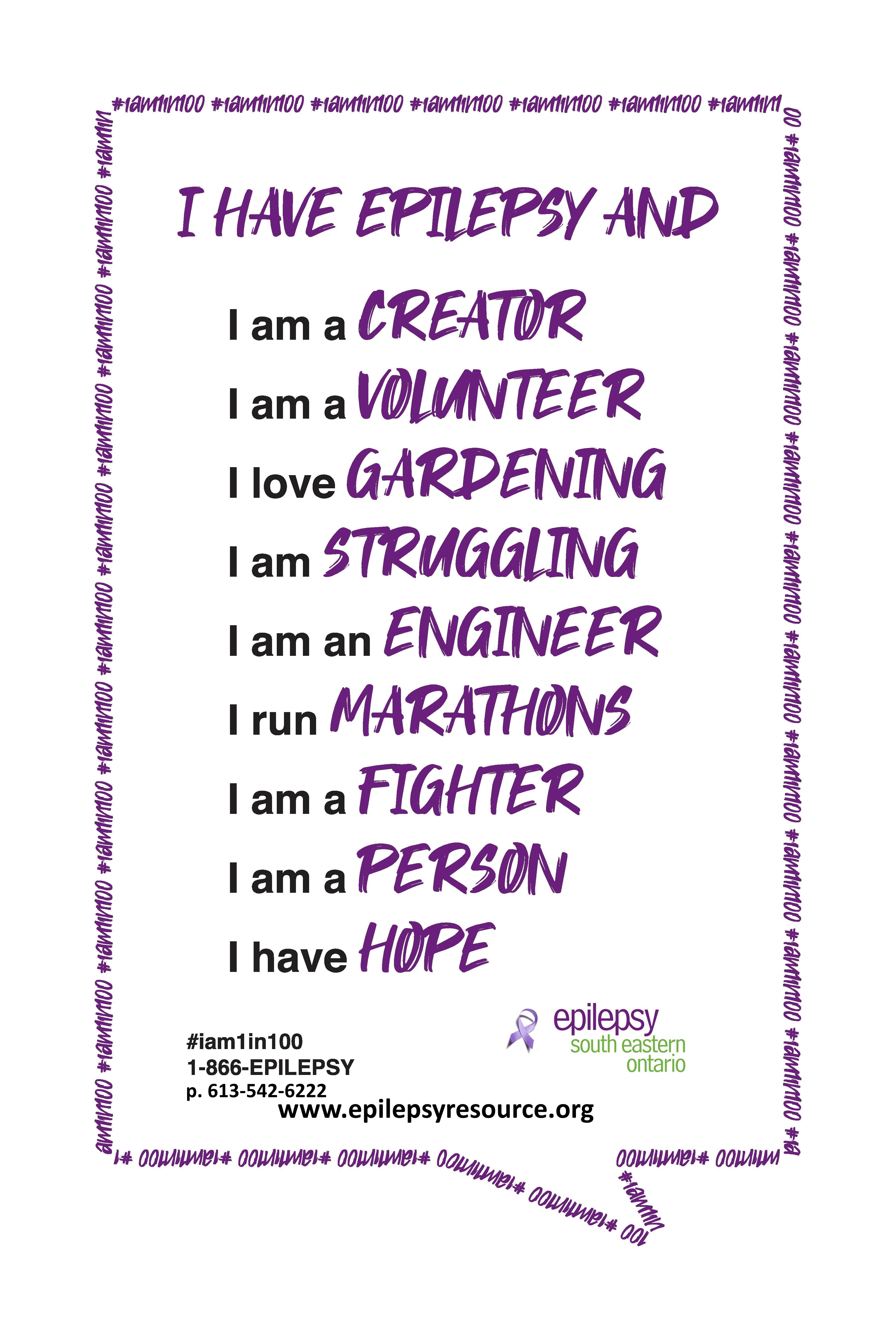 I have epilepsy and...